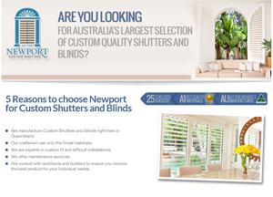 Newport Shutters Landing Page